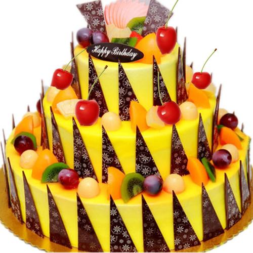 琼海文昌万宁儋州东方长沙株洲蛋糕店同城速递14英寸+10英寸+6英寸