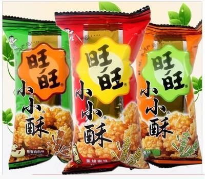 旺旺 小小酥60g 大米制作 全店零食38元包邮黑胡椒/葱