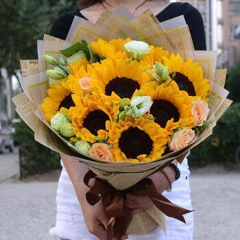全国同城鲜花速递向日葵花束送男生爸爸老公生日毕业季礼物上海