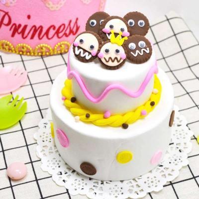 儿童做蛋糕玩具 手工制作儿童diy创意彩泥超轻粘土手工制作蛋.