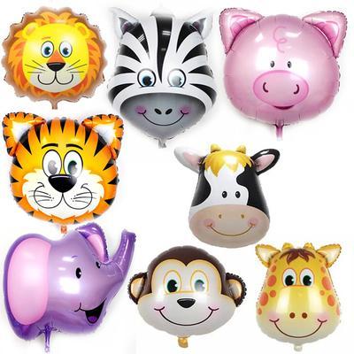 大号卡通动物头铝膜气球 卡通猴子头儿童生日周岁