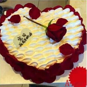 巧克力玫瑰同城配送女友老婆妈妈老公心形云朵慕斯蛋糕节蛋糕