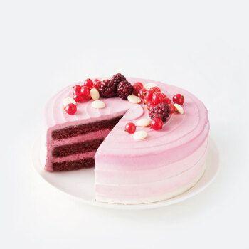 派悦坊树莓红丝绒蛋糕 生日蛋糕聚会甜品下午茶 送闺蜜送女友蛋糕