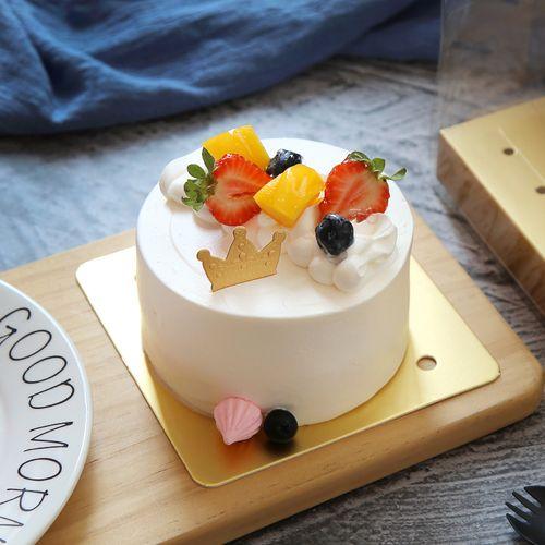 小四寸蛋糕盒 4寸透明手提西点盒切块方形慕斯盒烘焙