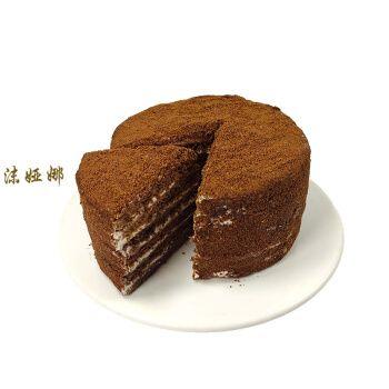 俄罗斯风味提拉米苏蜂蜜蛋糕双山巧克力奶油千层夹心早餐甜品 可可味