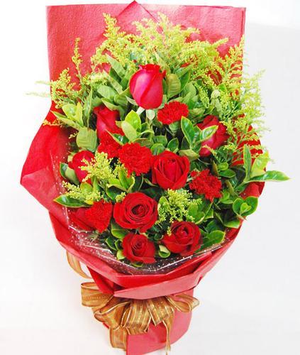 好再送鲜花速递淮安灌南花店滨海鲜花涟水生日预定9玫瑰红康