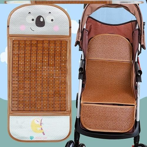 景观竹垫席垫餐椅婴儿车凉席座椅夏季童车高摇篮藤席