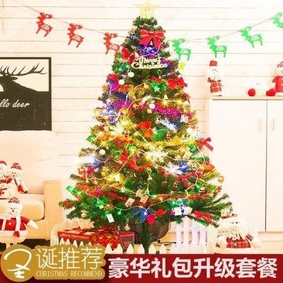 豪华圣诞节装饰品圣诞树1.5米1.8米2.1米3米加密圣诞