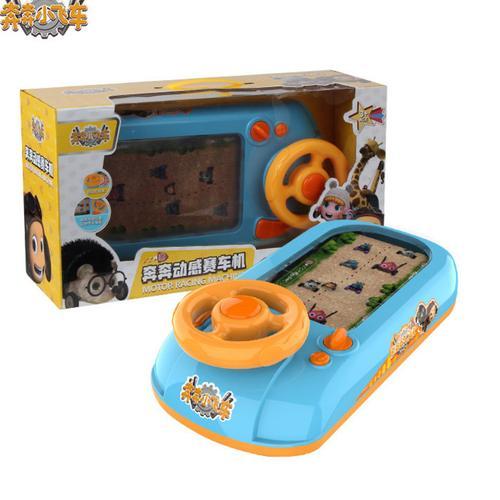 奔奔小飞车儿童遥控动感赛车机笨笨警车3岁4岁方向盘