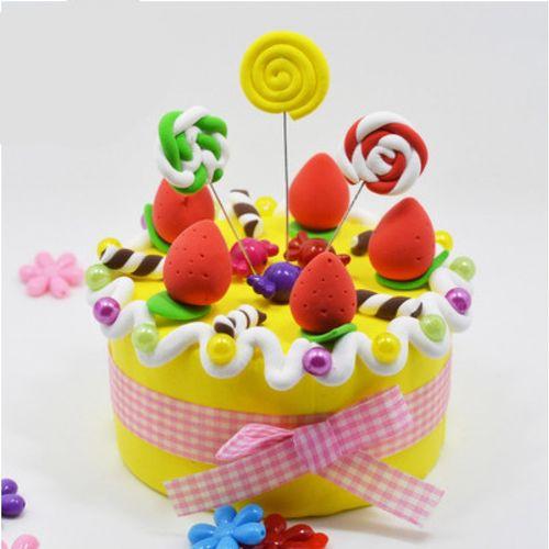 蛋糕摆摊彩杯超轻蛋糕粘土画史泥手工儿童diy材料包莱姆杯制作