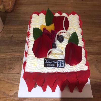 翻糖蛋糕装饰可食用软糖花瓣玫瑰花小花蛋糕摆件巧克力蛋糕插件