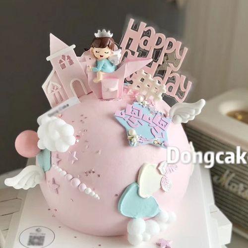 儿童生日蛋糕装饰千纸鹤小王子小公主男孩女孩宝宝