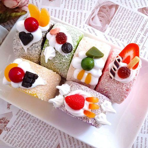 仿真小蛋糕点心装饰模型假面包橱窗柜展示拍照摄影道具幼儿园玩具