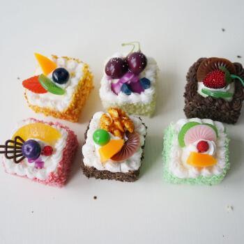 lmdec真小西点食物模型6个装 婚庆食品展台蛋糕点心摆设装饰品
