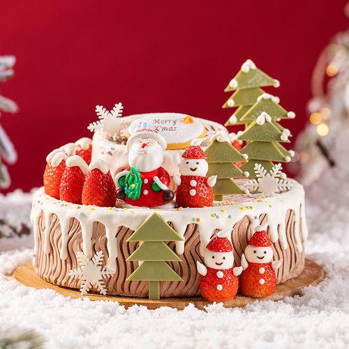 【圣诞专款】圣诞树桩 蛋糕(南宁)
