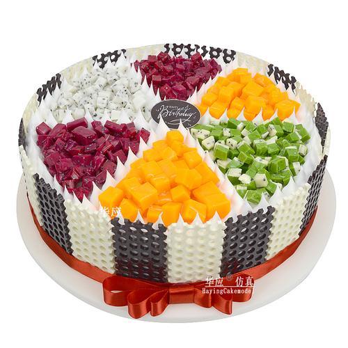 仿真蛋糕模型 新款2019欧式假蛋糕塑胶样品水果生日