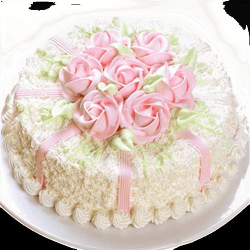 全国同城配送预定生日蛋糕定制鲜奶奶油蛋糕老河口宜城钟祥应城安陆