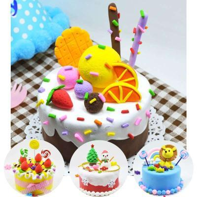 蛋糕轻手工diy手工泥制作超创意蛋糕彩.玩具儿童做儿童粘土制.