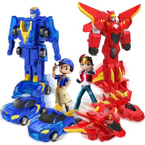 三宝 爆速合体变形玩具猎车兽魂2爆裂超变形机甲虫机器人闪电炫斗战记