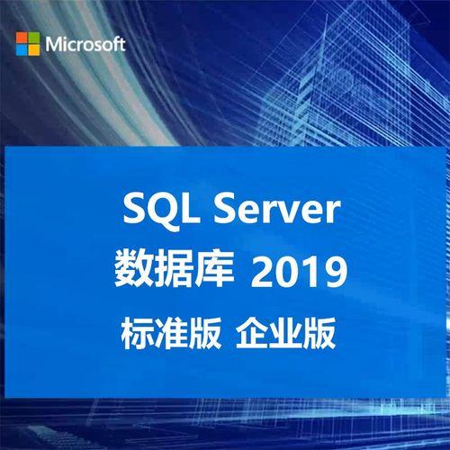 微软正版数据库软件win sql ser2019/sql server2019标准版/企业版 无