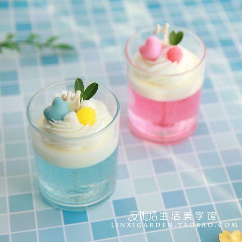 卧室香氛摆件手工diy甜品果冻杯奶油裱花冰淇淋蛋糕