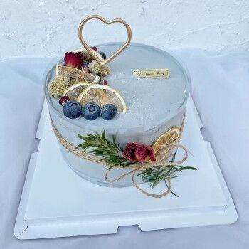 蛋糕全国预定同城配送爸妈儿童祝寿网红生日蛋糕定制当日送达 水果m款