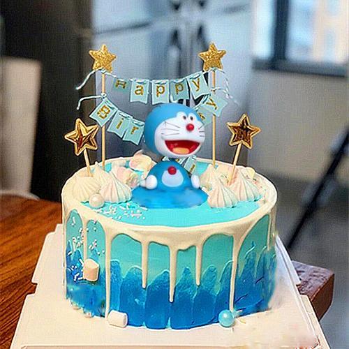 多啦a梦机器猫生日蛋糕卡通男孩女孩儿童