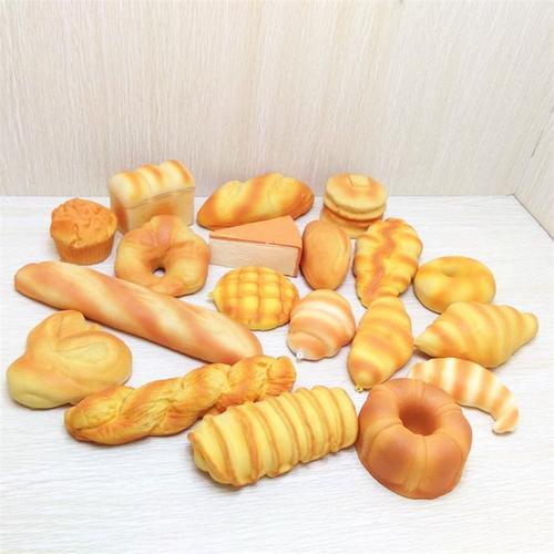仿真面包  慢回弹 甜甜圈牛角包三明治 方片汉堡花卷