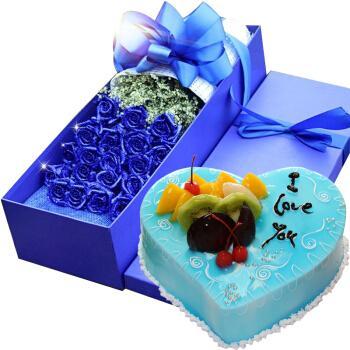 中帝(zhong di) 生日蛋糕同城配送 鲜花速递蛋糕组合上海广州深圳