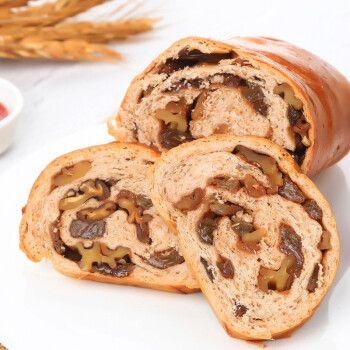 全麦大列巴面包葡萄干核桃仁俄罗斯早餐点心400g整根不切片 400g*2全