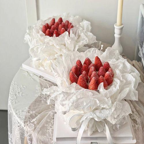 抖音网红女友老婆情侣纪念日生日草莓花束蛋糕上海