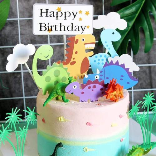 恐龙蛋糕装饰插牌摆件儿童生日蛋糕装饰卡通蛋糕配件