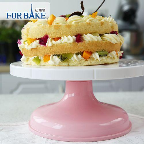 烘焙工具 法焙客蛋糕裱花转台 塑料旋转裱花台转盘可调节翻糖转台