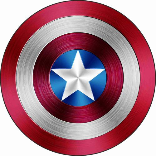 漫威复仇者联盟贴纸美国队长盾牌车贴防水装饰反光贴