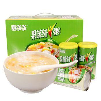 喜多多食品旗舰店 果蔬纤v粥罐头370gx12瓶 果粒饮料零食 送礼 整箱装