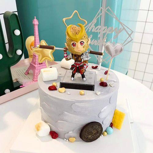 孙猴子烘焙蛋糕装饰小猴玩偶摆件男神男孩儿童生日派对甜品台布置