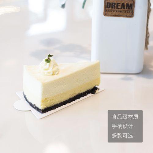 慕斯蛋糕切件底托白色三角形千层切块垫片正方形法式西点烘焙纸垫