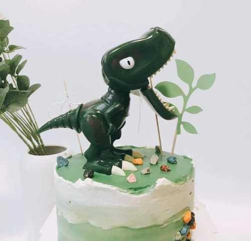 霸王龙暴龙大恐龙蛋糕装饰摆件卡通网红装饰生日蛋糕