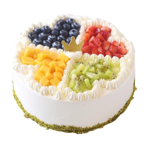 【水果蛋糕】四色果园-动物奶油蛋糕