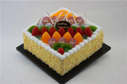 卓越蛋糕模型 方形水果系列蛋糕模型 仿真水果蛋糕模型  仿真蛋糕