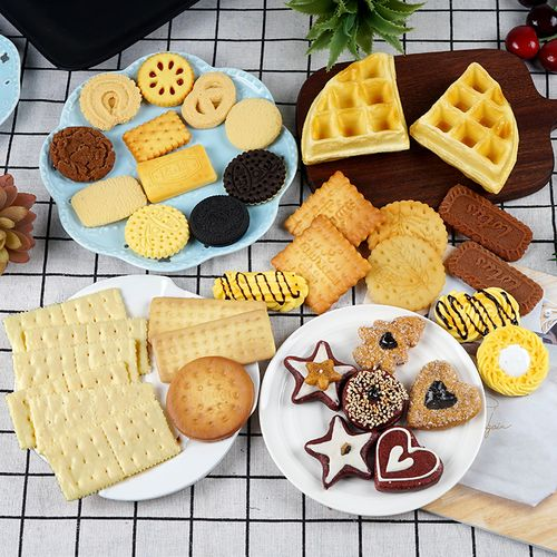仿真食物食品曲奇饼干奥利奥夹心饼干模型道具早教