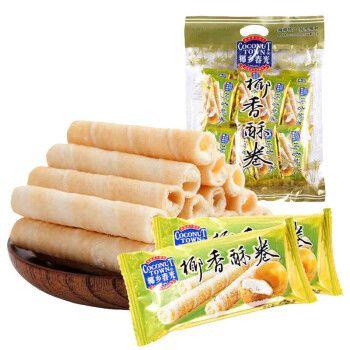 春光椰香酥卷350g海南特产夹心饼干椰奶酥卷零食