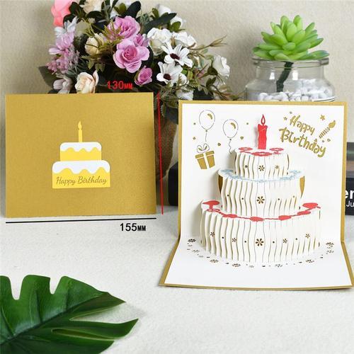 立体卡通礼品送雕定制3d礼物闺蜜生日贺卡朋友手工男女创意纸生日