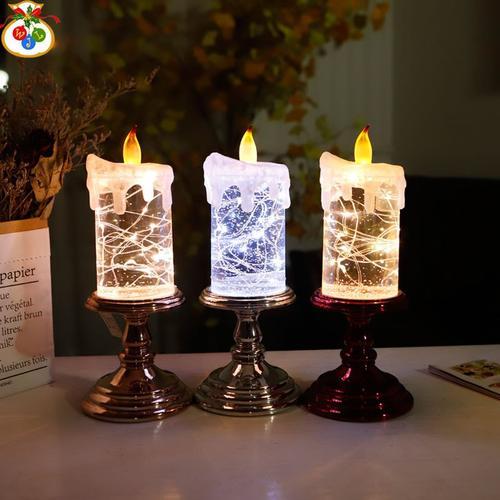 世界1504大油蜡烛圣诞节装饰用品圣诞摆件圣诞节圣诞