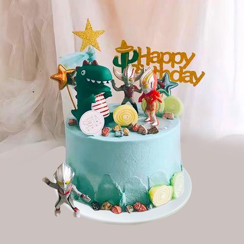 蛋糕模型仿真2020新款流行网红儿童恐龙卡通生日蛋糕