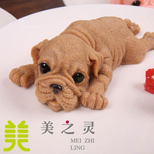 新品定制仿真网红沙皮狗慕斯蛋糕萌萌小奶狗食物食品
