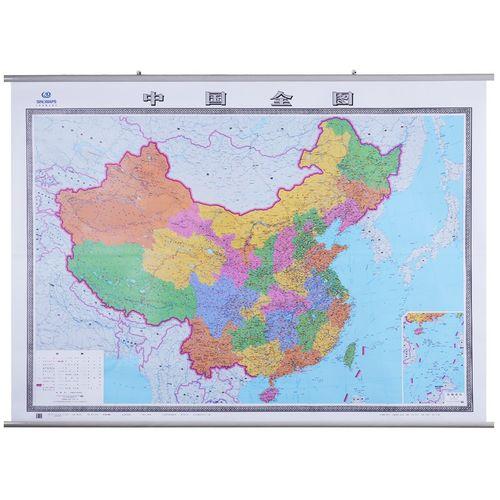 2021年 中国地图 2米*1.5米 全国行政区划交通挂图