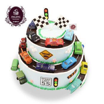网红个性定制卡通儿童创意水果奶油双层生日蛋糕当日当天送达全国配送