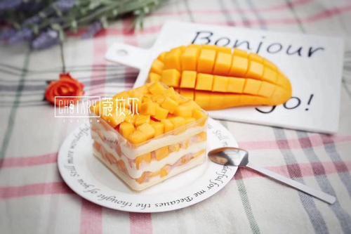 芒果千层盒子蛋糕
