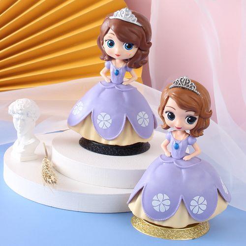 盲盒公主蛋糕装饰摆件烘焙装饰q版娃娃玩具汽车摆件